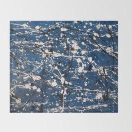 Blue Carnage Throw Blanket