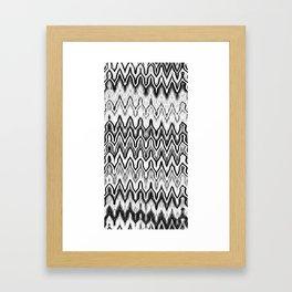 Missoni Style Mono Framed Art Print