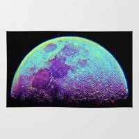 the moon Area & Throw Rugs featuring Moon by Starstuff