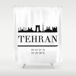 TEHRAN IRAN BLACK SILHOUETTE SKYLINE ART Shower Curtain