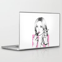 kate moss Laptop & iPad Skins featuring Kate Moss style by sarah illustration