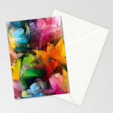 Dancing Rainbow Feathers Stationery Cards