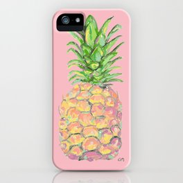 Pink Brite Pineapple iPhone Case