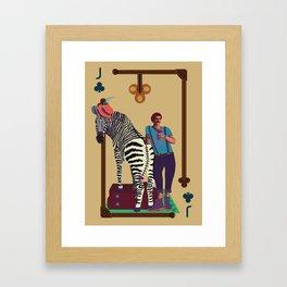 Jack of Clubs Framed Art Print
