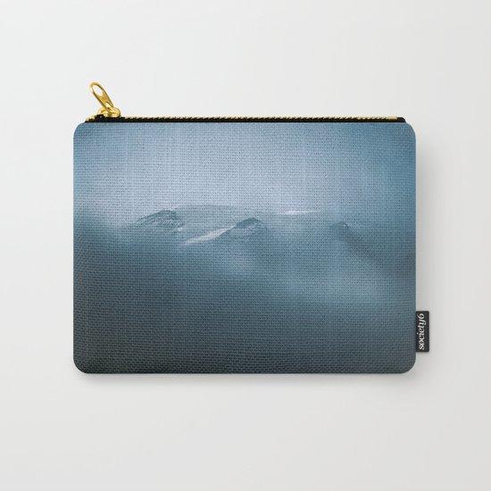 Cloudy Mount Rainier Carry-All Pouch