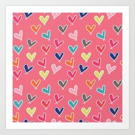 Blow Me One Last Kiss - Pink Art Print