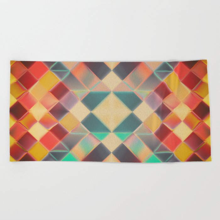 Candy Miracle Tile Beach Towel