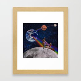 Oh What a Gorgeous Adventure Framed Art Print