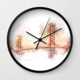 Golden Gate II Wall Clock