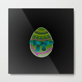 Egg green and blue Bow 03 Metal Print