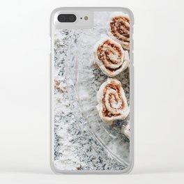 Cinnamon Rolls Clear iPhone Case