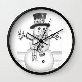 the snowman Wall Clock