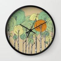 fall Wall Clocks featuring Fall by Chris Gregori