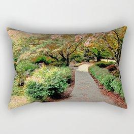 ALONG AN AUTUMN PATH Rectangular Pillow