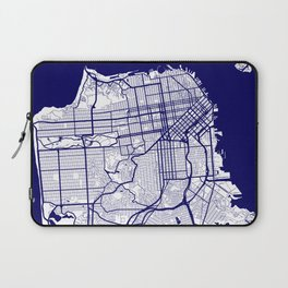 San Francisco City Map 02 Laptop Sleeve