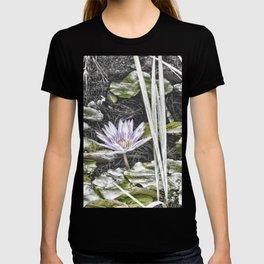 Stunning faded waterlily T-shirt