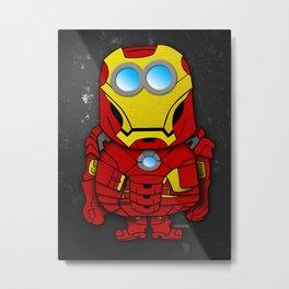 Iron Minion Iron Man Parody Metal Print
