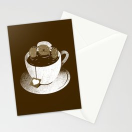Monday Bath Sloth Coffee Stationery Cards