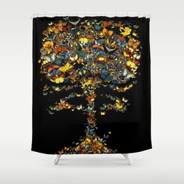 Atomic Butterfly Shower Curtain