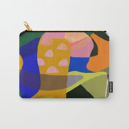Shapes and Layers no.20 - Abstract painting olive green blue orange black Carry-All Pouch