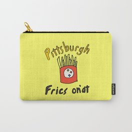 Pittsburgh Fries On Everything Premium T-Shirt Carry-All Pouch