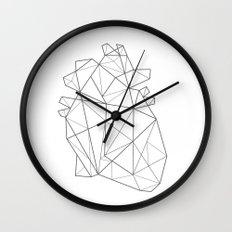 Origami Heart Wall Clock