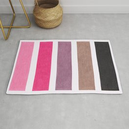 Colorful Pink Geometric Pattern Rug