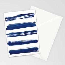 Indigo Brush Strokes   No. 2 Stationery Cards