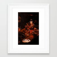 whiskey Framed Art Prints featuring Whiskey by Esra Meral Demircan