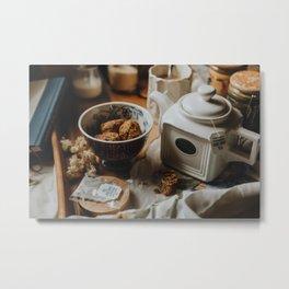 Tea Service Still Life IV Metal Print