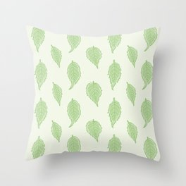 Hummingbird Vine Leaves Pattern Throw Pillow