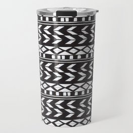 Black & White Pattern Travel Mug