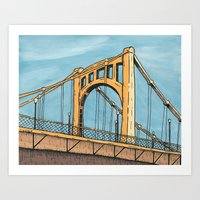 Roberto Clemente Bridge - Pittsburgh Art Print