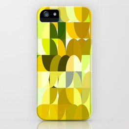 Pale Yellow Poinsettia 1 Abstract Circles 1 iPhone Case