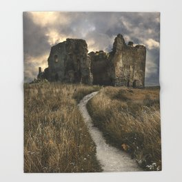 Forgotten castle in Estonia Throw Blanket