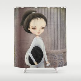 The fencer Shower Curtain