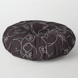 Minimalist Platypus Black and White Floor Pillow