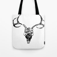 dallas Tote Bags featuring Dallas, Texas by PunkLatino