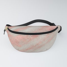 Marble Rose Gold White Marble Foil Shimmer Fanny Pack