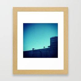 Blue factory in MTL Framed Art Print