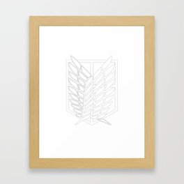 Survey Corps Framed Art Print
