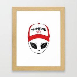 Let's play baseball Framed Art Print