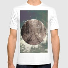 real world maze White MEDIUM Mens Fitted Tee