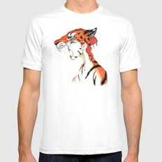 The Masquerade:  The Bengal Mens Fitted Tee White MEDIUM