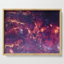 Star Field in Deep Space Serving Tray