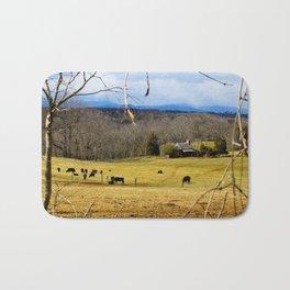 Cattle ranch overlooking the Blue Ridge Mountains Bath Mat