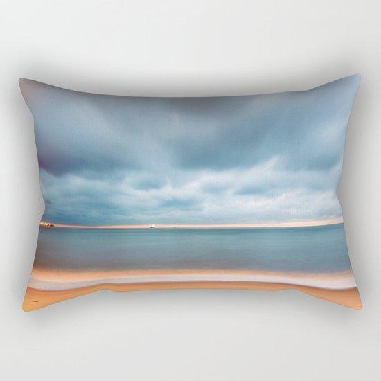 Sky Sea Light Rectangular Pillow