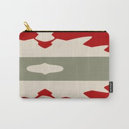 Red and Sage Aztec Carry-All Pouch
