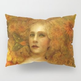 """Ophelia among golden oriental flowers"" Pillow Sham"