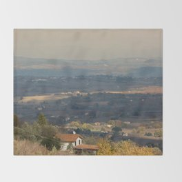 Sunset Italian countryside landscape view Throw Blanket